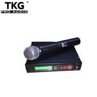 kaliteli mikrofon kablosuz toptan satış-2018 en kaliteli profesyonel öğretmek uhf çin 572-820 mhz karaoke el kablosuz mikrofon mikrofon SLX14 SLX4 SLX SLX24 58a mikrofon