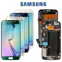 sıcak satış telefonu s6 toptan satış-TZT OEM Sıcak Satış 100% Çalışma Iyi Cep Telefonu LCD Ekran SAMSUNG S3 S4 S5 S6 S7 kenar Ekran Ypf27-01