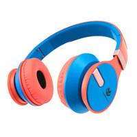 kulaklıklar kulaklıklar rengi toptan satış-H1809 Çocuklar için Kulaklık Çift Renk Stereo Kafa Bilgisayar Telefonu için Sevimli Kulaklık Kablolu Kulaklıklar
