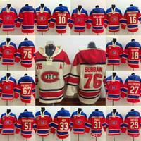 p sudaderas al por mayor-76 P K Subban Montreal Canadiens Jersey 31 Precio 67 Pacioretty 11 Gallagher 27 Galchenyuk 18 Savard 29 Sudaderas con capucha de Dryden Sudaderas