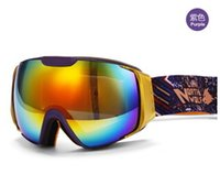 Wholesale clear lens ski goggles resale online - NORTH WOLF Ski Goggles Double Anti fog Skiing Glasses Snow Sports Ski Clear Lens Mountaineering Mirror Snowmobile Goggle