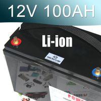 12v lityum piller toptan satış-12V lityum iyon pil su geçirmez IP67 kutusu 100AH Li-ion pil