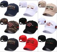 Wholesale snake hats resale online - Luxury hat Women Men Brand Red snake logo Designer Casual Cap Popular Baseball Cap Avant garde snapback Fashion Hip Hop Caps Hats