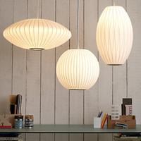 modern çince aydınlatma toptan satış-Modern Kolye Işıkları Çin tarzı fenerler kişiselleştirilmiş yaratıcı top uçan daire ipek lamba giyim mağazası kolye