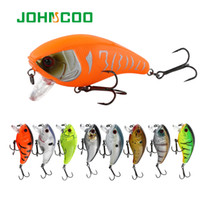 Wholesale baits floating vmc hook for sale - Group buy Lures JOHNCOO Crankbait Fishing Wobblers g cm Artificial Crank Bait Bass Fishing Lure pike Floating Lure With VMC Hook