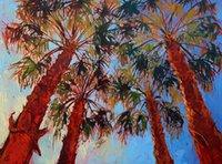 palmeiras de lona de óleo venda por atacado-Pintura a óleo-la-quinta-palmas sem moldura moderna arte da parede da lona para casa e escritório decoração, pintura a óleo, animal painatings, quadro.