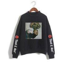 frauen s hoch collared hoodie großhandel-Luxus-Damen-Designer-Pullover Ariana Grande Stehkragen Damen Herren Sweatshirt Sweatshirt Casual Oversize Printed Sweatshirts Kleidung
