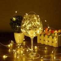 ingrosso rame di luce della stringa della batteria-Natale LED String Light 10M / 33ft 100 LED Copper Copper Silver Fata Ghirlanda impermeabile con 8 modalità Telecomando alimentato a batteria