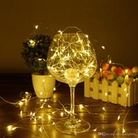 akü askısı hafif bakır toptan satış-Noel LED Dize Işık 10 M / 33ft 100 LED Bakır Gümüş Tel Peri Garland 8 Modu Uzaktan Kumanda Ile Su Geçirmez Akülü