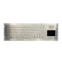 membrana del teclado al por mayor-Teclado de metal Touchpad Touch Pad con Trackpad Robusto Kiosco Teclado Fabricante impermeable teclado de membrana de pantalla táctil