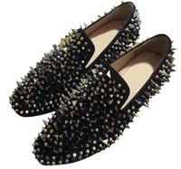 zapatos de vestir oxford para mujer al por mayor-Zapatos de marca Red Fashion Bottom Greggo Orlato Flat Oxford de cuero genuino para hombre para mujer para caminar pisos Boda mocasines vestido zapato c1