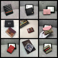 Wholesale wallet for documents resale online - 21FW men s luxury leather wallet with passport cover for documents new arrivals purse for men high quality wallets money bags keqf