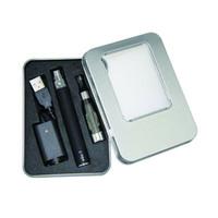 ego t kit ce4 ce5 al por mayor-EGo CE4 Kits CE4 caja de aluminio Kit de caja de regalo rectangular paquete Batería eGo-T para ego ce4 ce5 ce6 kit de inicio de cigarrillo electrónico