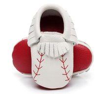 hakiki beyzbol deri toptan satış-2019 yeni tasarımlar kırmızı taban yenidoğan bebek ayakkabı hakiki deri beyzbol bebek moccasins kırmızı taban ilk yürüteç ayakkabı püskül Yüksek kalite boot
