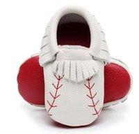красная детская обувь оптовых-2019 новый дизайн красная подошва новорожденных детская обувь из натуральной кожи бейсбол детские мокасины красная подошва первые ходунки обувь кисточкой высокое качество загрузки