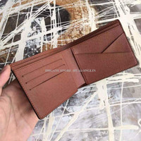 Wholesale new promotion for sale - Group buy Short Wallet Men Man Purse Card holders Original box new arrival new fashion promotion