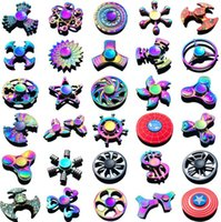 Wholesale 120 types In stock Fidget spinner Rainbow hand spinners Tri Fidget Metal Gyro Dragon wings eye finger toys spinning top handspinner witn box