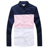 beste männerhemdentwürfe großhandel-2019 Eden Park Sommer Best Selling Langarm-Shirt für Männer Schöne Qualität Fashion Design Kostenloser Versand Größe M L XL XXL
