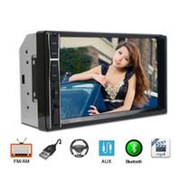 volvo car dvd al por mayor-7 '' coche MP3 MP5 Player con Radio FM Bluetooth Espejo retrovisor Enlace Soporte para Universal