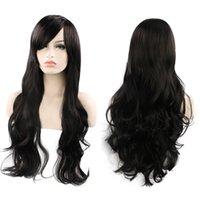 ingrosso set di intreccio dei capelli-parrucca nera capelli sintetici treccia 80cm lunghi capelli ricci set di capelli cosplay