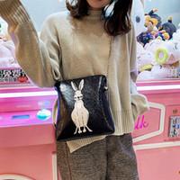 ingrosso cartella del coniglio-Amazing2019 Borsa da donna Mori All-match Chic Chain Package Girl Feel Lovely Rabbit Oblique Satchel