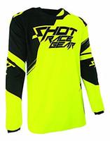 camisetas amarillas de ciclismo negro al por mayor-MOTO Sports Jersey Bicicleta Ciclismo Bicicleta downhill Jerseys para Hombre Motocicleta Equipo de equitación Camisas de equitación Crossmax amarillo negro KVG
