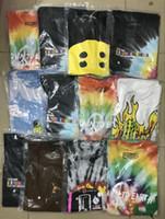 хип-галстук оптовых-19SS Кактус Трэвис Скотт Astroworld Sicko Футболка Мужчины Женщины Высококачественные футболки для окрашивания хип-хопа S-XL
