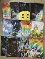 многокамерная рубашка оптовых-19SS Кактус Трэвис Скотт Astroworld Sicko Футболка Мужчины Женщины Высококачественные футболки для окрашивания хип-хопа S-XL