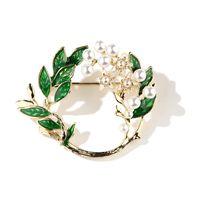 asiatische partydekoration großhandel-Vintage Emaille Gardenia Blume Brosche Cape Jasmine Brosche Breastpins Frauen Kleidung Dekor Hochzeit Partei Schmuck