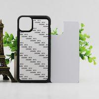 aluminiumtelefonkasten iphone großhandel-Blank 2D Sublimation TPU + PC-Telefon-Kastenabdeckung für iPhone 11 Pro Max 7 8 8plus X xs xr xs max mit Aluminium-Einlagen