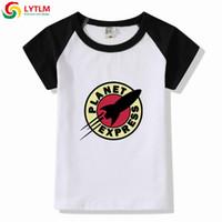 ingrosso camicie espresse casual-LYTLM Camicie per bambini da 5 a 6 anni Planet Express Bambini Estate Manica corta T-shirt Raglan bambino Toddler Girl Top Baby Boy T-Shirt