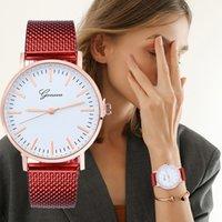 женские наручные часы силиконовой жены оптовых-Модные наручные часы для женщин GENEVA Классический кварцевый силиконовый гель-платье наручные часы браслет часы женские часы A1
