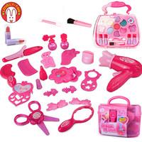 meninas compõem brinquedos venda por atacado-Meninas compõem brinquedos do bebê cosméticos fingir jogar definir cabeleireiro maquiagem beleza cosméticos brinquedo para a menina jogos de desenvolvimento