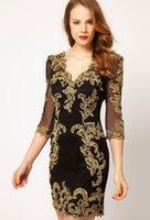 goldene linie kleid großhandel-Die goldene Zusammenfassung der Vintage Gauge Lines Fantasy Einteiler Dressed, High Class Designer Dressed