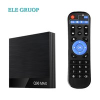 Wholesale free tv android box resale online - 5 DHL free Q96 Max Android TV Box Allwinner H6 Quad core K H HD Media Player Wifi GB32GB