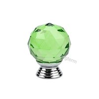 Wholesale green drawer knobs resale online - High quality mm green clear crystal pull handle closet drawer knobs zinc alloy glass furniture knobs