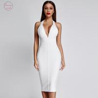 Distribuidores de descuento Vestido Halter Blanco Xs