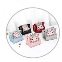 Wholesale mini parts accessories online - Girls Unicorn Chain Crossbody Bag Messenger Shoulder Bag Cartoon Parting Unicorn Pouch Chain Square Bag Small Brief Accessories LJJW92