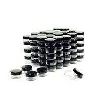 siyah plastik kavanozlar toptan satış-Kozmetik Kapları Siyah Kapaklı Örnek Kavanozlar Plastik Makyaj Örnek Kapları BPA içermeyen Pot Kavanozlar 3g 5g 10g 15g 20 Gram