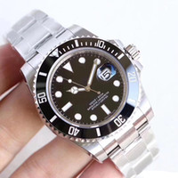 Wholesale new round glasses resale online - U1 Factory Mens Watch LN Automatic Mechanical Sapphire Glass Ceramic Bezel Stainless with Glide Lock Men Watches Wristwatches