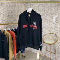 hoodie tunnelzug groihandel-Herbst-Winter-Amerika Europa Dual Tunnelzug Fashion Kapuzenshirt Männer Frauen Kleidung Schädel Skelett Skateboard Cotton Sweatshirt