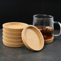 posavasos de corcho al por mayor-Cork Coaster resistente al calor taza estera de la taza de té del café Bebida caliente mantel para la Mesa de comedor Accesorios de cocina