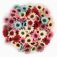 Wholesale artificial multi color flowers for sale - Group buy 50Pcs Multi Color Artificial Daisy Flower Heads Silk Gerbera Fake Flowers for Home Wedding Decoration Scrapbook DIY