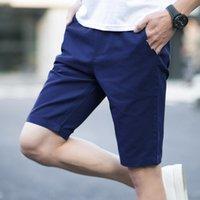 khaki bermuda shorts großhandel-Männer Kordelzug Sommer Fashion Solid Herren Shorts Lässige Baumwolle Slim Bermuda Masculina Strand Shorts Klassische Shorts Chino