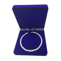 Wholesale core necklaces resale online - 50pcs Velvet Fresh Pearl Necklace Box Case Round Core Jewelry Packaging Box Storage Gift Boxes Jewelry Carrying