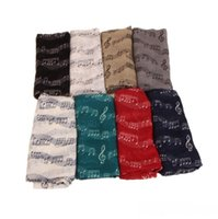 Wholesale symbol accessories resale online - Women Scarf Musical Symbol Scarf Voile Music Note Scarfs Winter Lady Neckerchief Christmas Party Favor Fashion Accessories Colors