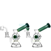 Wholesale inch tires resale online - 6 inch Tire dab rig Bong Manufacture Glass Water Pipe With Tire Style And Honeycomb Diffuser Percolator Glass Bongs drop shipping