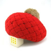 Wholesale crochet baby beret hat for sale - Group buy 2018 New Baby Winter Hat Knit Crochet Baby Beret Girl Cap For Children Cotton Warm Cap Cute Warm Kid Beanie Unisex