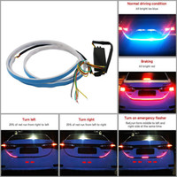 Wholesale lighting for cars resale online - 48 inch Universal Mode Car LED Tail Strip Light V for Running Light Turn Signal Brake Reverse Doubl