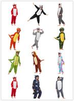 inverno crianças sleepwear venda por atacado-2020 Crianças Pijamas Unicorn Inverno pijama Animal dos desenhos animados Pijamas Onesie Crianças Velo Kigurumi Aqueça flanela Crianças Blanket Pijamas
